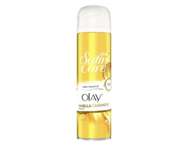 Gillette Satin Care with a Touch of Olay Vanilla Τζελ Ξυρίσματος 200ml