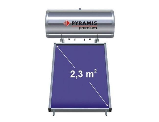 Pyramis 160 lt / 2,3 m² Επιλεκτικού Συλλέκτη Premium Τριπλής Ενέργειας Ηλιακός Θερμοσίφωνας 026002401