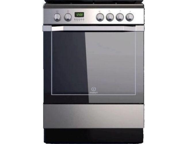Indesit I6VMC6A(X)/GR Κεραμική Κουζίνα