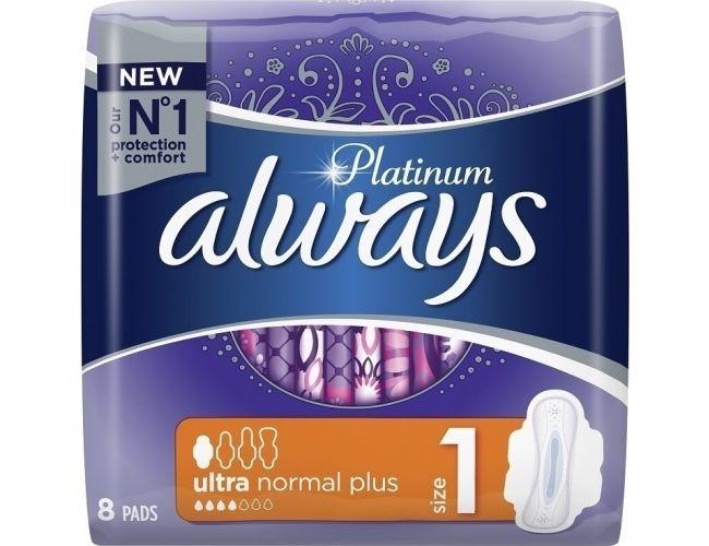 Always Platinum Σερβιέτες Mέγεθος 1 ultra normal plus, 8 Τεμ 8001090444875
