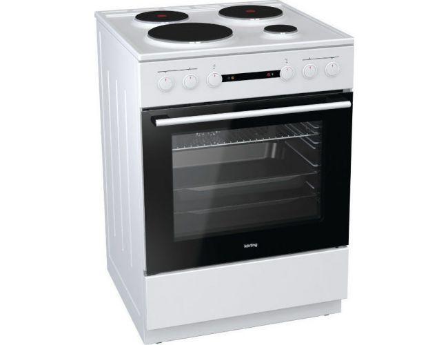 Korting KE6141WPM Ηλεκτρική Κουζίνα Εμαγιέ Λευκή
