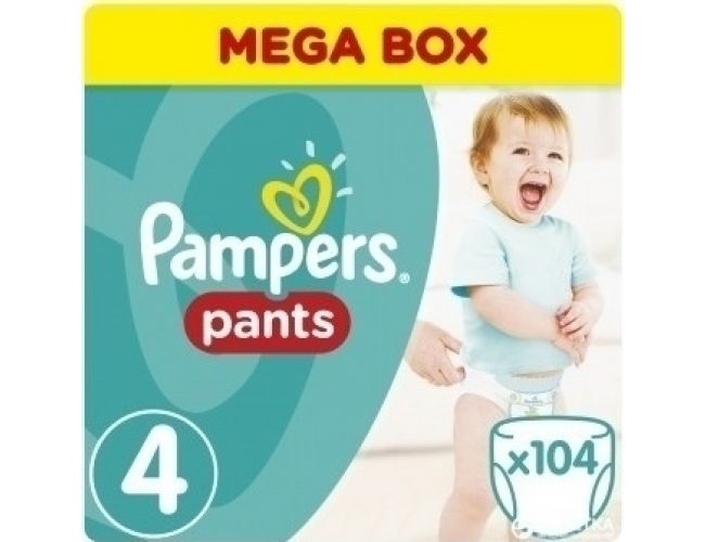 Pampers Πάνες Pants (104τεμ) No4 (9-14kg)