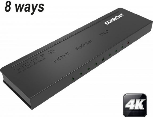 Edision HDMI Splitter 4K 1x8 07-07-0103