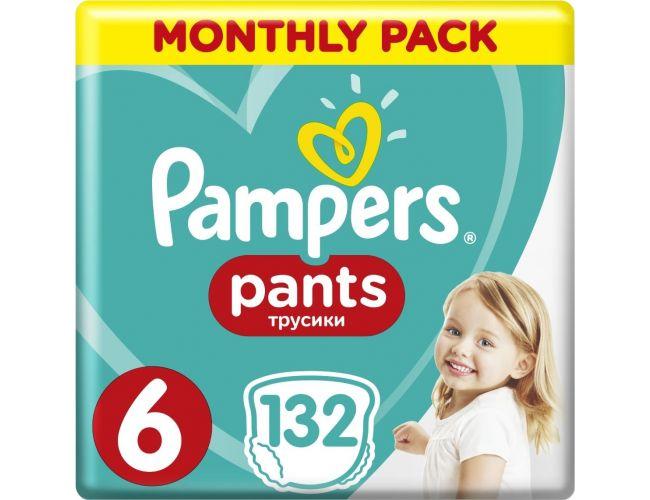 Pampers Πάνες Pants (132τεμ) No6 (16+kg) 8001090808080
