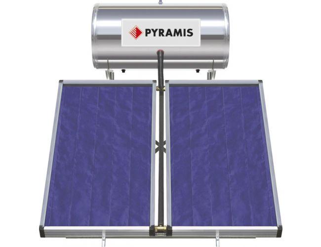 Pyramis 160lt / 3m² Επιλεκτικού Συλλέκτη Τριπλής Ενέργειας Ηλιακός Θερμοσίφωνας 026001205