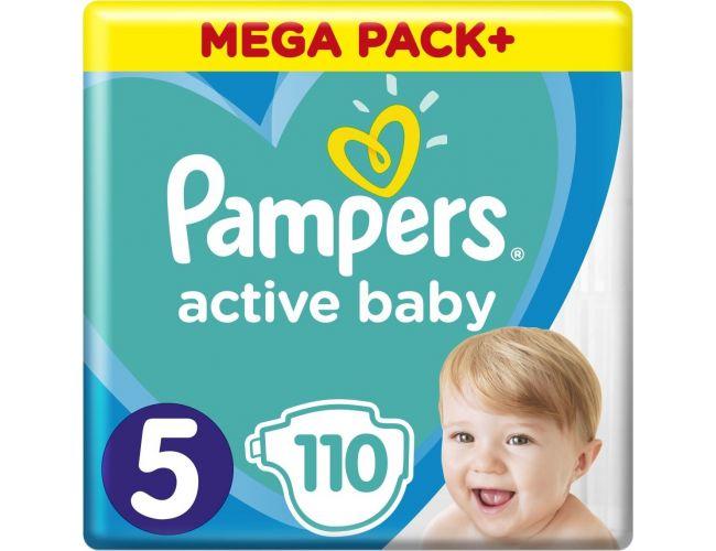 Pampers Πάνες Active Baby (110τεμ) No5 (11-16kg)