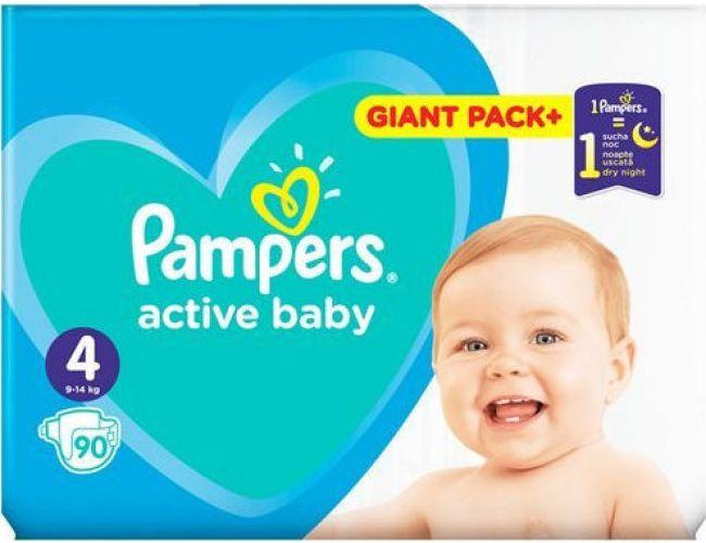 Pampers Πάνες Active Baby (90τεμ) No4 (9-14kg)