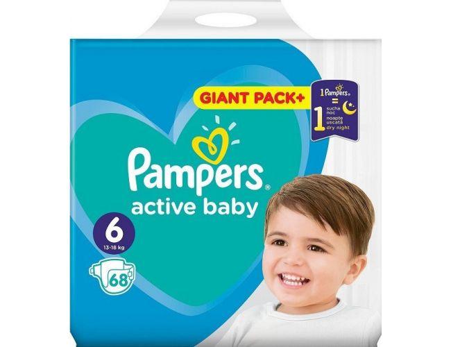 Pampers Πάνες Active Baby (68τεμ) No6 (13-18kg)