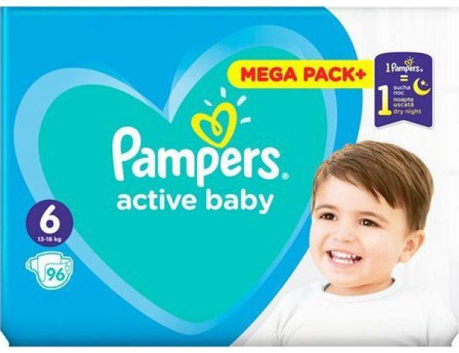 Pampers Πάνες Active Baby (96τεμ) No6 (13-18kg)
