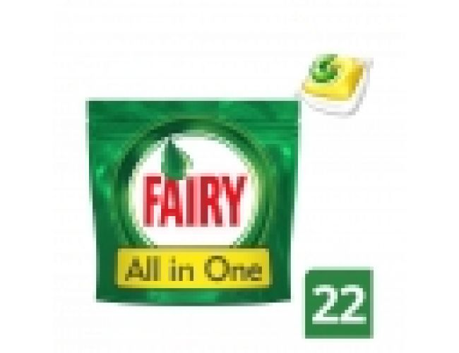 Fairy All in One Λεμόνι Ταμπλέτες Πλυντηρίου Πιάτων 22τεμ 26149