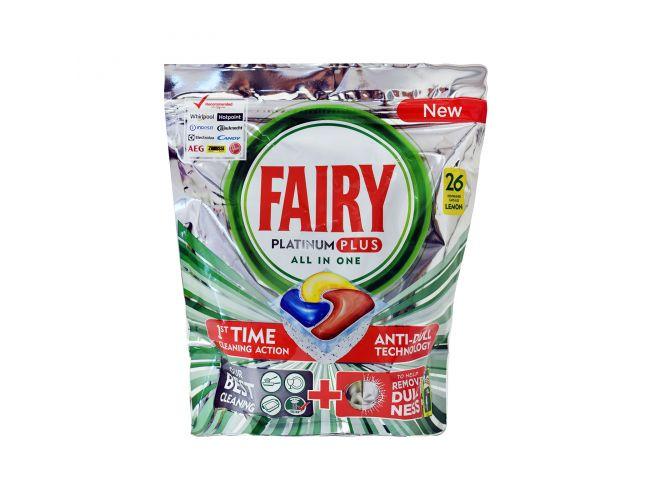 Fairy Lemon Playtinum Plus All in one 26 τμχ Απορρυπαντικό Πλυντηρίου Πιάτων σε Κάψουλες 8001841012940