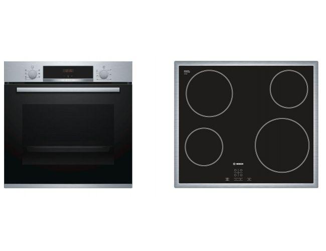 Bosch BA51FN00 (HBA513BS00 + PKE645D17E) Σετ Κουζίνα Εστία