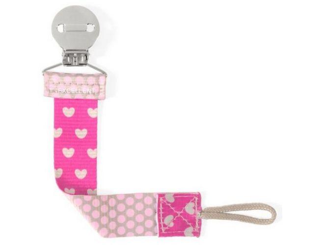 Chicco Fashion Pink Κλιπ Πιπίλας