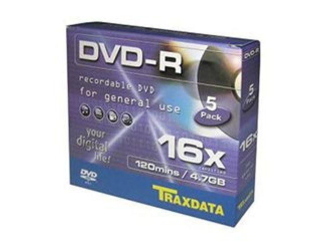 Traxdata DVD-R 16x Κασετίνα 5άδα