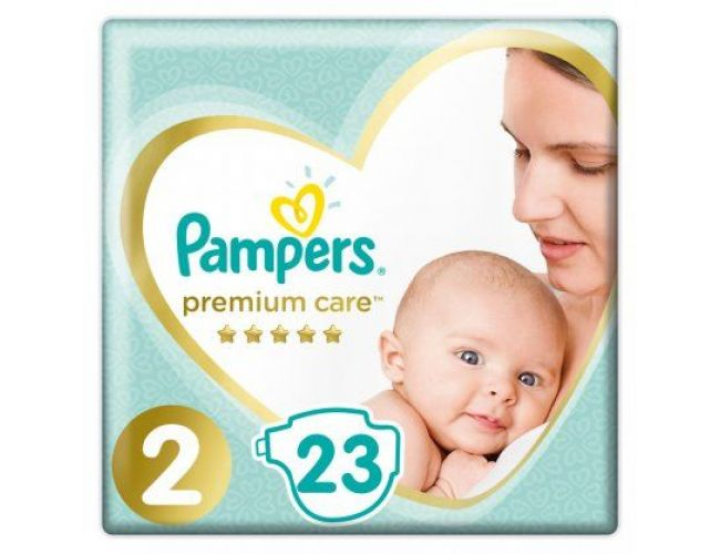 Pampers Πάνες Premium Care (23τεμ) No2 (4-8kg)