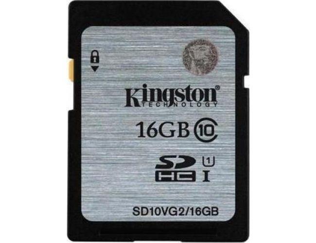 Kingston SDHC UHS-I 16GB SD10VG2/16GB
