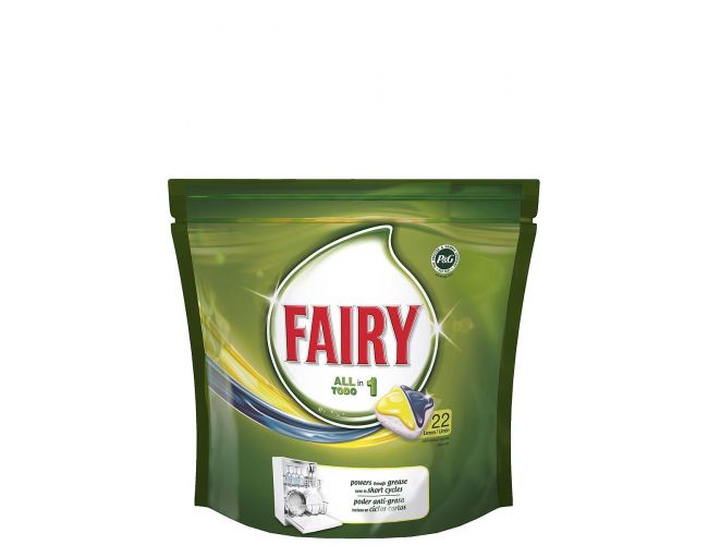 Fairy Original Caps Πλυντηρίου Πιάτων Lemon 22 Τεμάχια