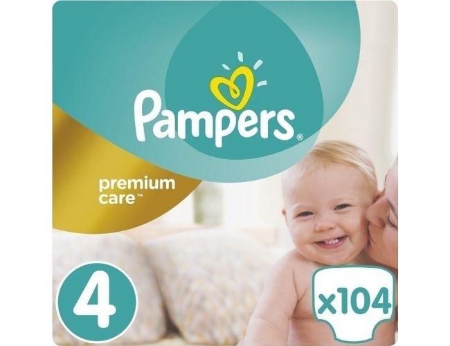 Pampers Πάνες Premium Care (104τεμ) No4 (9-14Kg)