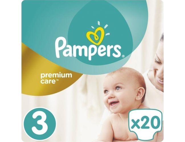 Pampers Πάνες Premium Care (20τεμ) No3 (6-10kg)