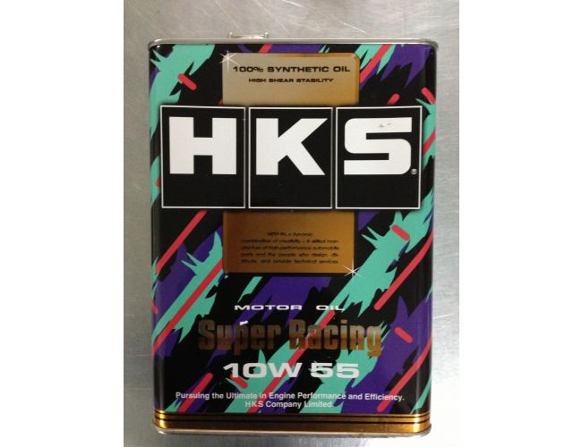 HKS SUPER RACING OIL 10W-55 100%SYNTHETIC 4L
