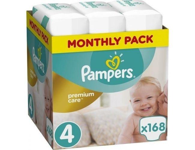 Pampers Πάνες Premium Care (168τεμ) No4 (9-14Kg)