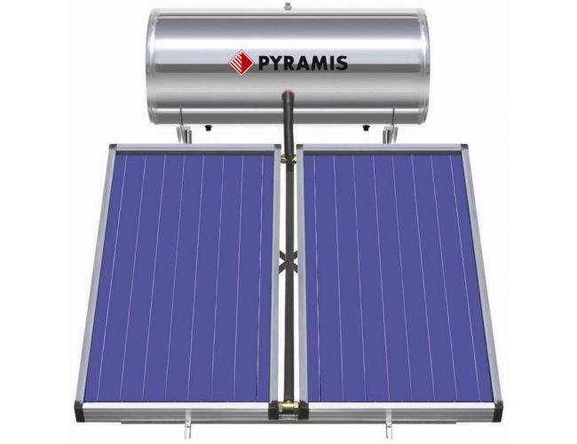 Pyramis 200lt / 3m² Επιλεκτικού Συλλέκτη Τριπλής Ενέργειας Ηλιακός Θερμοσίφωνας 026001305