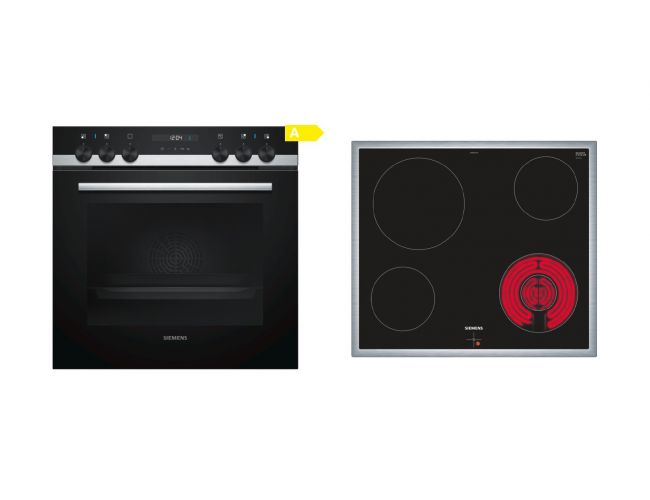 Siemens SA53CN00 (HE537ABR0 + EA645GF17G) Σετ Κουζίνα Εστία
