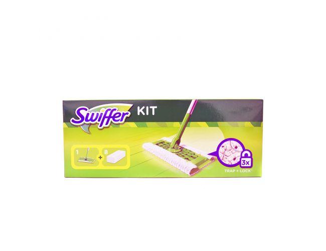 Swiffer Kit Σκούπα + 8 Πανάκια Στεγνά Σετ Σκουπίσματος