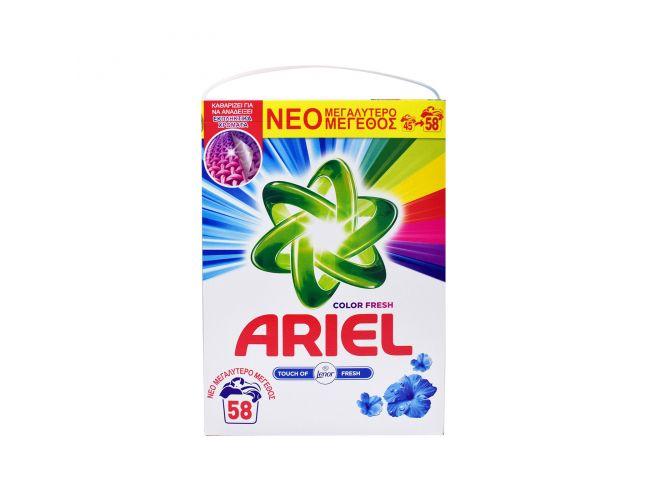 Ariel Coloer Fresh 58 Mεζούρες Σκόνη Απορρυπαντικό Ρούχων 8001841464268