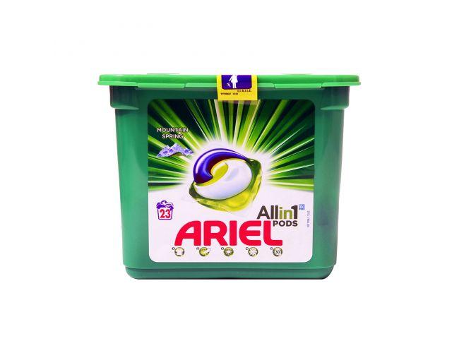 Ariel All in One Pods 23 Mεζούρες Υγρό Απορρυπαντικό Ρούχων σε Κάψουλες 8001841745954