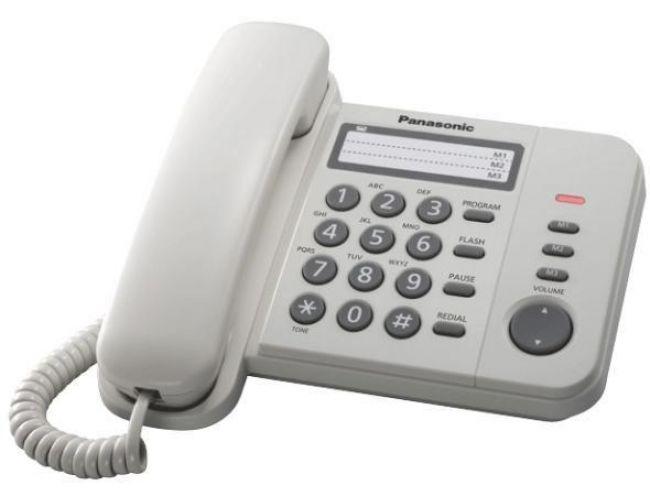 Panasonic KX-TS520EX2W Λευκό Τηλέφωνο
