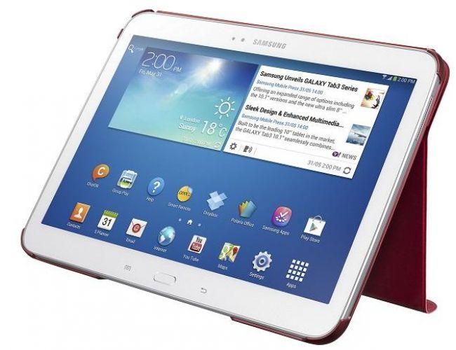 """Samsung BOOKCOVER Santos TAB 3 10,1"""" Garnet Red EF-BP520BREGWW"""