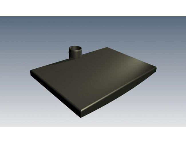 Edbak ΤRSΜ100-B Μαύρο Μεταλλικό Ράφι
