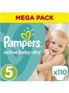 Pampers Πάνες Active Baby Dry (110τεμ) No5 (11-18Kg)