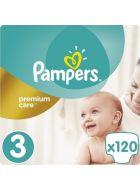 Pampers Πάνες Premium Care (120τεμ) No3 (6-10kg)