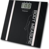 Beper 40.808Α Black Ζυγαριά Μπάνιου με Λιπομέτρηση