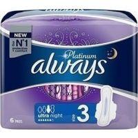 Always Platinum Σερβιέτες Mέγεθος 3 ultra night, 6 Τεμ 8001090445032