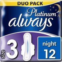 Always Σερβιέτες Platinum Ultra Night 12 Τεμ 8001090445070
