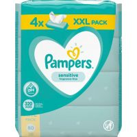 Pampers Sensitive Μωρομάντηλα 320τεμ (4x80τεμ)