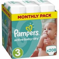 Pampers Πάνες Active Baby Dry (208τεμ) No3 (5-9Kg)