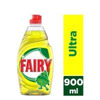 Fairy Ultra Lemon 900 ml Υγρό πιάτων για πλύσιμο στο χέρι 4084500183025