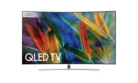 Samsung QΕ55Q8CΑΜ Smart Curved Τηλεόραση QLED με Δορυφορικό Δέκτη