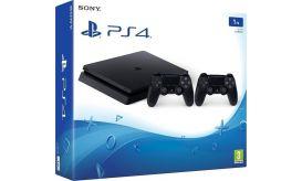 Sony Playstation 4 Slim 1TB Black & 2nd Dualshock 4