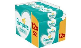 Pampers  Baby Wipes Sensitive 12 x 52 Τεμάχια  Μωρομάντηλα 81708871