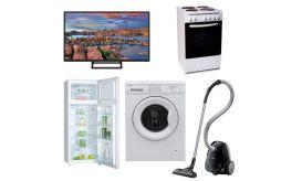 Φοιτητικό Πακέτο Νο5 2019 ( Ψυγείο , Κουζίνα, Τηλεόραση, Πλυντήριο, Σκούπα)