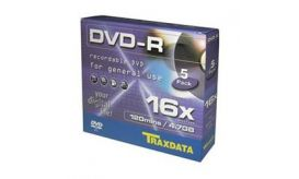 Traxdata DVD-R 16x Value Pack 5άδα Slim Κασετίνα