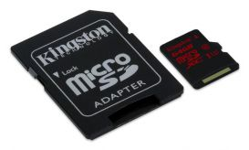 Kingston Micro SDHC UHS-I U3 64GB + adapter SDCA3/64GB