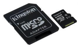 Kingston Micro SDHC 64GB Class 10 + Adapter SDC10G2/64GB