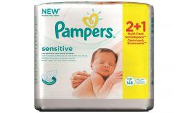 Pampers Μωρομάντηλα Sensitive οικονομική συσκευασία 112+56τεμ. ΔΩΡΟ