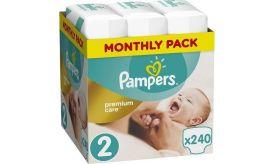 Pampers Πάνες Premium Care (240τεμ) No2 (3-6Kg)